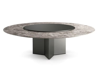 Round marble table with Lazy Susan YOL SECT