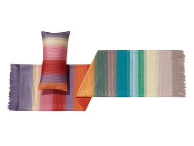 Plaid a righe multicolor ricamato YOLAN
