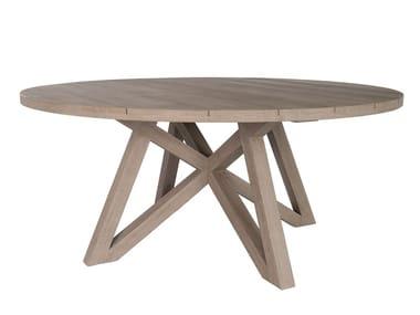 Runder Tisch aus Teakholz YORK
