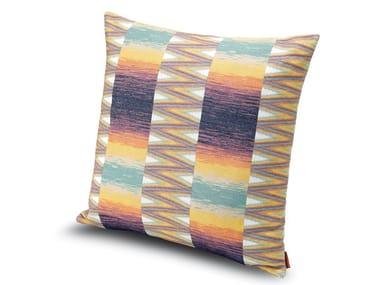 Cuscino in tessuto jacquard motivo geometrico a losanghe YOSEMITE | Cuscino