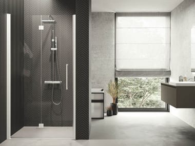 Box doccia angolare in alluminio con piatto YOUNG | 1BS