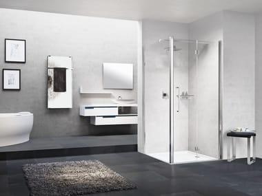 Box doccia angolare in alluminio con piatto YOUNG | 1BS + YOUNG 2.0 F1B