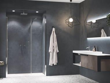 Box doccia angolare in alluminio con piatto con porta a battente YOUNG | G+F IN LINEA