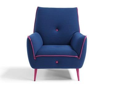 Armchair in stretchable fabric YUKI | Armchair