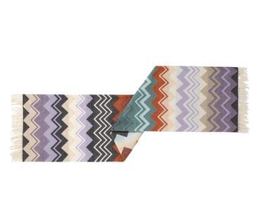 Jacquard multi-colored wool lap robe YVO