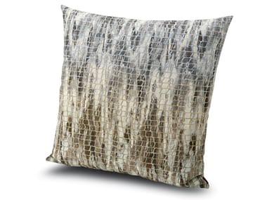 Cuscino in tessuto jacquard effetto rete YWANGAN