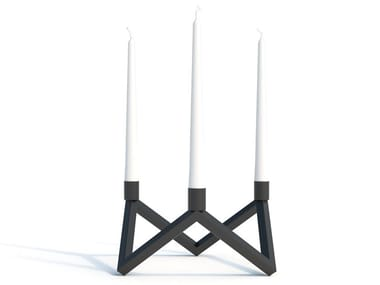 Powder coated steel candlestick Z | Candlestick