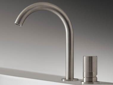 2 hole countertop single handle stainless steel washbasin mixer Z316 SH   2 hole washbasin tap
