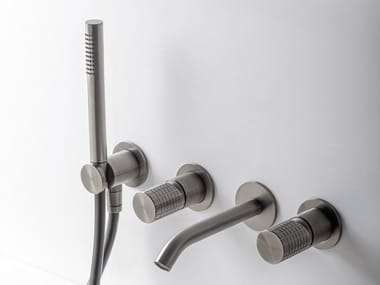 Wall-mounted stainless steel bathtub tap with hand shower Z316_SH   Wall-mounted bathtub mixer