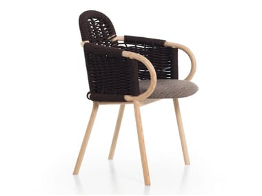Ash chair with armrests ZANTILAM 32