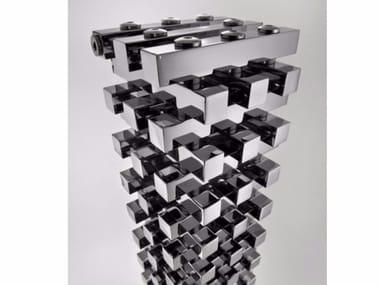 Chrome modular floor-standing decorative radiator ZANZIBAR | Floor-standing decorative radiator