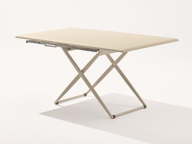 Height-adjustable rectangular garden table ZEBRA | Rectangular table