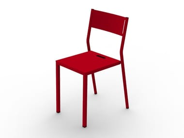 Powder coated steel chair TAKE | Chair