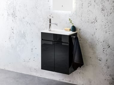 Glass vanity unit / handrinse basin ZEN | Vanity unit