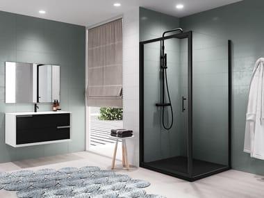 Box doccia angolare con porta a battente ZEPHYROS G