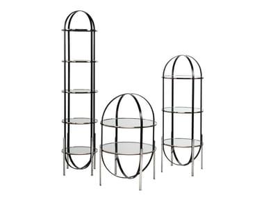 Open freestanding glass bookcase ZEPPELIN