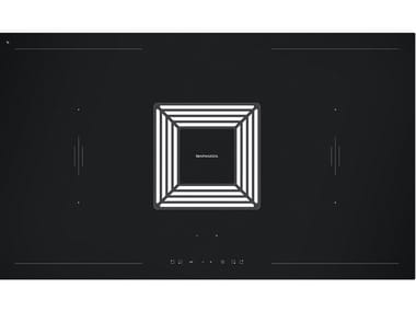 Induction glass ceramic hob with integrated hood ZERO 1PIDZ90N