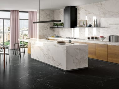 Laminated stoneware wall/floor tiles with marble effect ZERO.3 ETERNITY