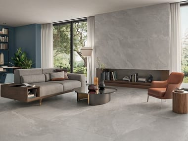 Porcelain stoneware wall/floor tiles with stone effect ZERO.3 STONE TRACE - CREEK