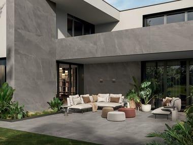 Revestimento de pisos/paredes de grés porcelânico com efeito pedra ZERO.3 STONE TRACE - CREST