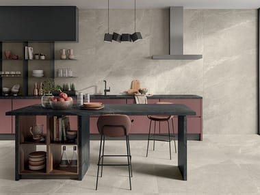 Porcelain stoneware wall/floor tiles with stone effect ZERO.3 STONE TRACE - GLADE