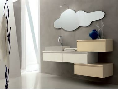 Sistema bagno componibile ZERO4 VETRO - COMPOSIZIONE 6