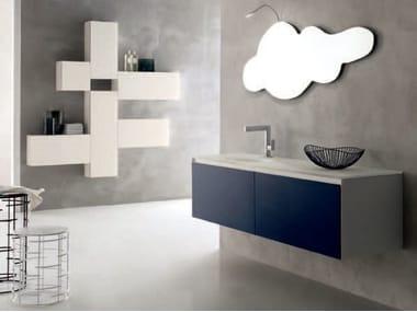 Sistema bagno componibile ZERO4 VETRO - COMPOSIZIONE 7