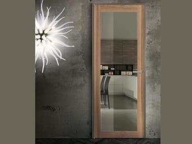 Hinged aluminium and wood door ZETA V