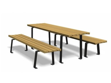 Rectangular wooden Table for public areas ZETAPICNIC | Rectangular Table for public areas