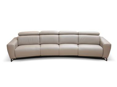 Divano componibile reclinabile in pelle ZEUS | Divano curvo