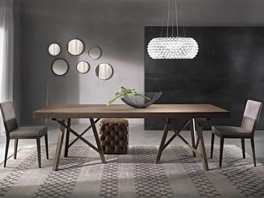 Tavolo allungabile rettangolare ZEUS | Tavolo in legno massello