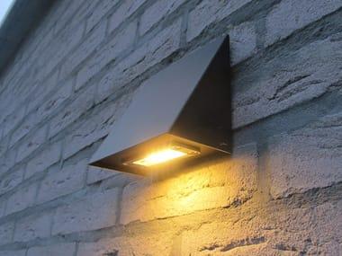 Lampada da parete per esterno a luce diretta in zinco ZINK
