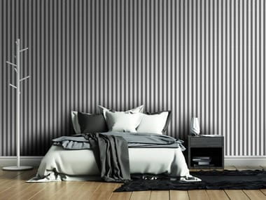 Striped washable vinyl wallpaper ZIPPER
