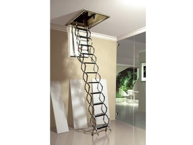 Steel Retractable stair ZK ISO