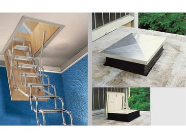 Steel Retractable stair ZK TERRAZZO
