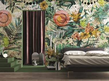 Wallpaper with floral pattern ZODIAC
