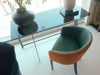 Sedia imbottita in pelle ZOE | Sedia in pelle
