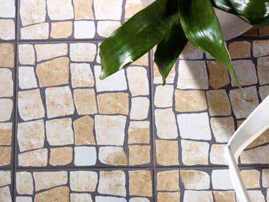 Glazed stoneware wall/floor tiles with stone effect CALÇADA