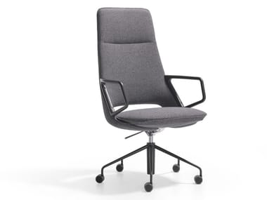Swivel armchair with casters ZUMA | Armchair with casters
