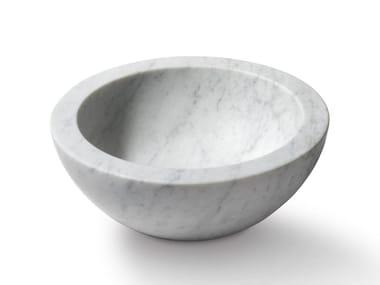 Lavabo da appoggio rotondo in pietra ZUPPIERA