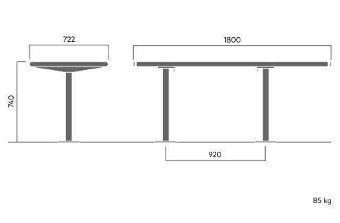 739A April HC-table with footplate