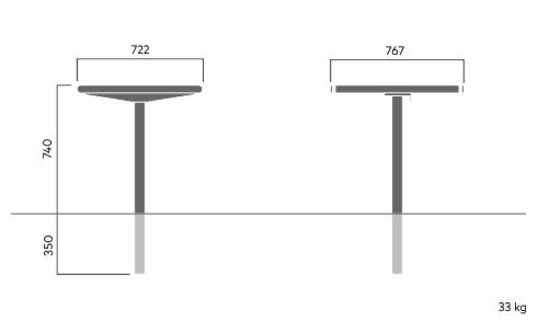 734C April square table for embedding