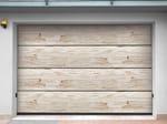 Sectional sandstone garage door