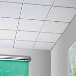 Acoustic mineral fibre ceiling panels