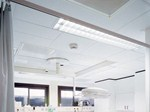 Mineral fibre ceiling panels for healthcare facilities