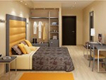 Contemporary style Hotel bedroom
