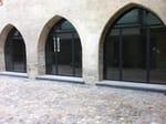 Galvanized steel patio door