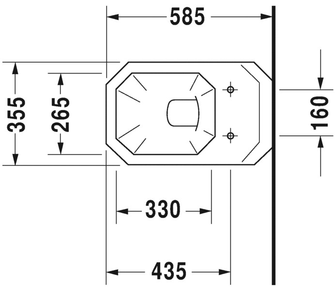Toilet Dimensions From Wall. Dimensions 1930  Wall hung toilet By Duravit