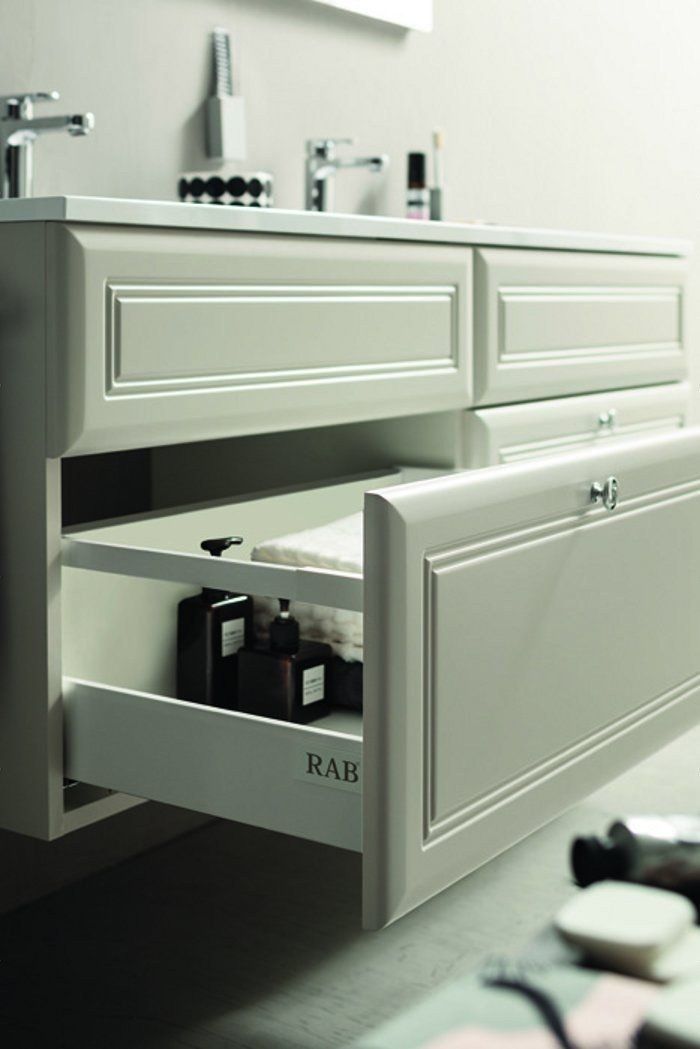 vanity unit with cabinets with mirror 31 by rab arredobagno - Arredo Bagno Rab