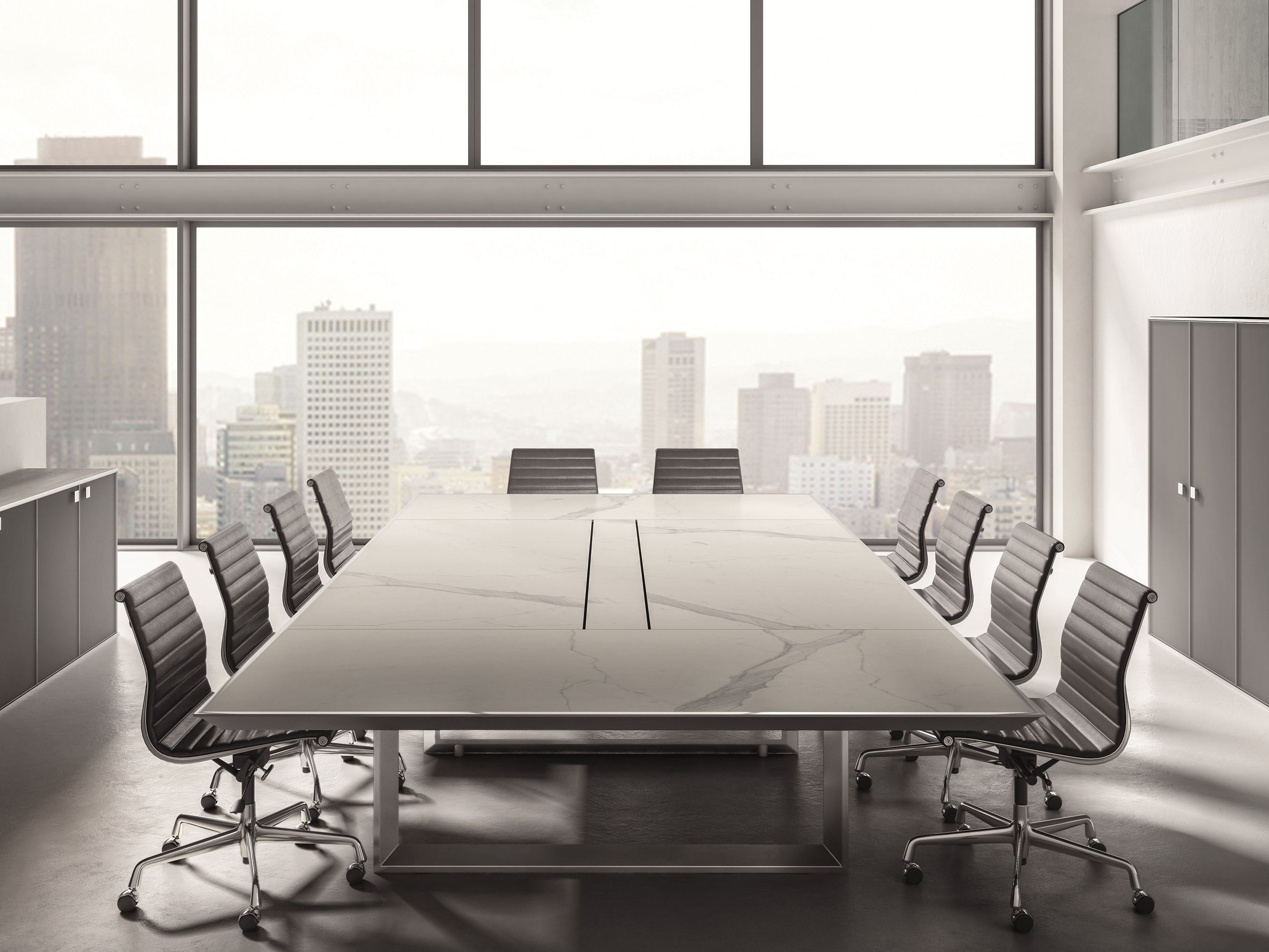 White marble meeting table combined with - White Marble Meeting Table Combined With 2